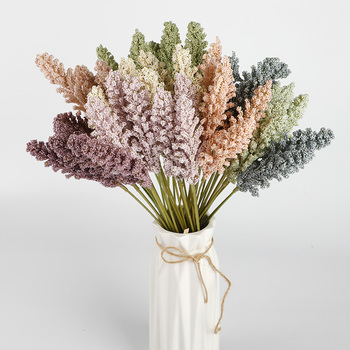 6 pieces artificial flowers Granules foam lavender wedding decorative flowers vases for home decoration accessories fake  plants european hydrangea oil painting style vases for home decoration accessories wedding decorative flowers artificial flowers cheap