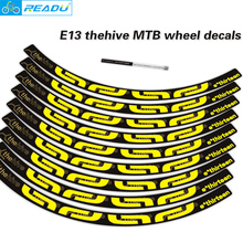 E13 thehive mtb rim stickers E13 bicycle stickers bike wheelset stickers MTB rims decals  bike stickers mtb for two wheel decals meroca mtb mountain bike bicycle sealed bearing 26inch wheel six hole central lock wheelset rim 27 5 29