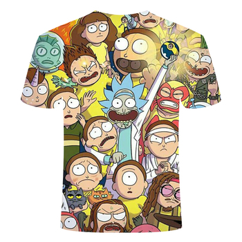 Rick and Morty 3D T-shirt graffiti style series 2 fun summer t-shirt men and women short-sleeved tops round neck tops size S-6XL 2