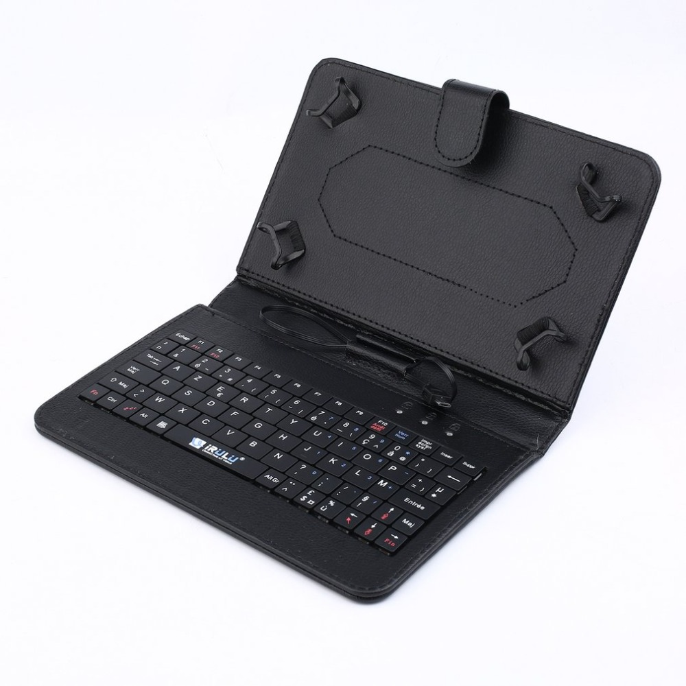 Tablet Case Keyboard-Stand-Cover Micro-Usb-Connection 7-Inches Ultra-Slim for with  title=