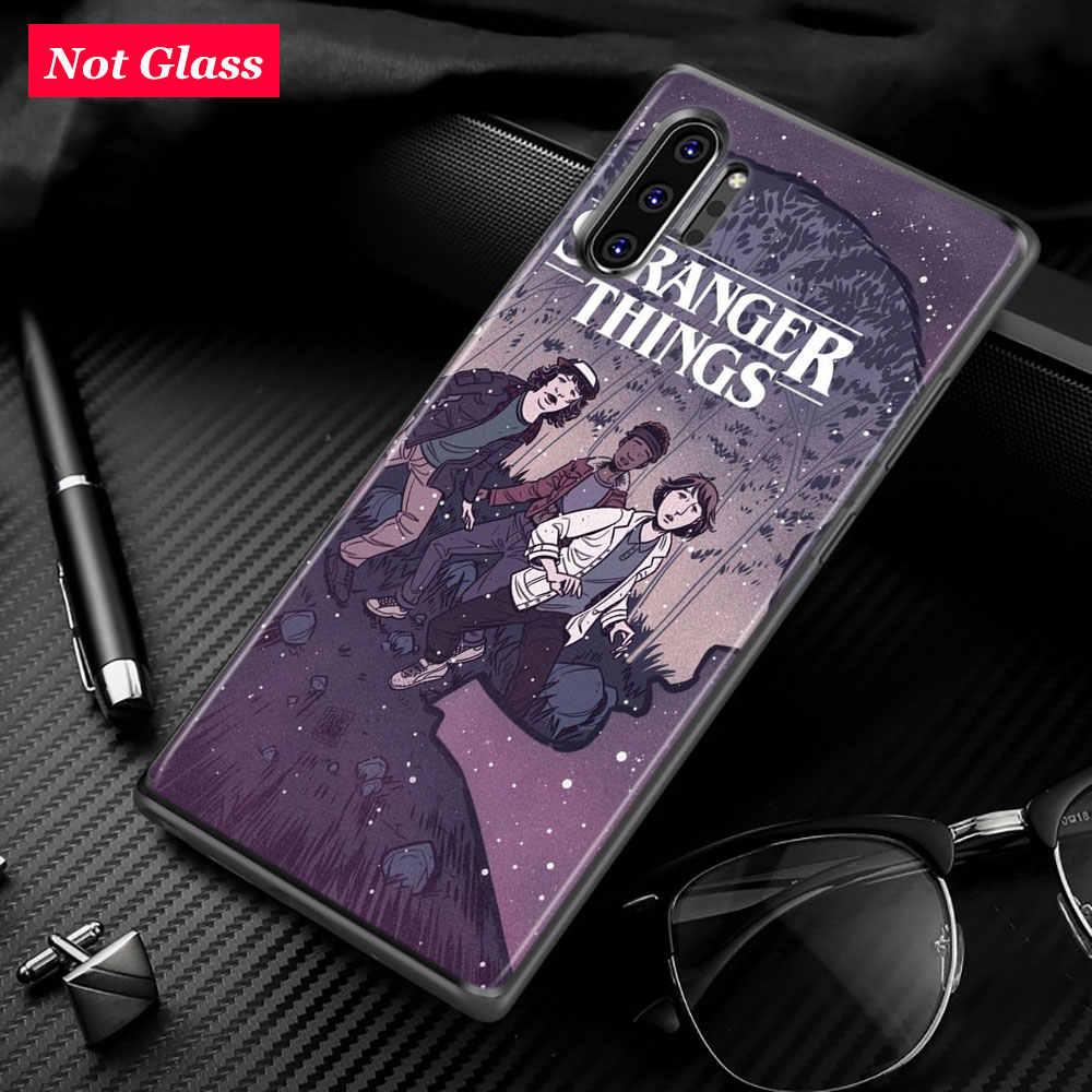 Ốp Silicon Đen Viền Kẻ Lạ Mặt Điều dành cho Samsung Galaxy Samsung Galaxy Note 10 Plus 10 9 8 S10 5G S9 S8 Plus s7 S6 Ốp Lưng Điện Thoại