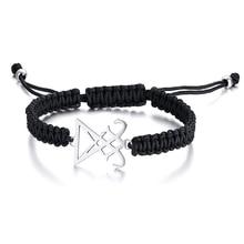 Men's Luciferian Bracelet Black Braided Lucifer Sigil Of Occult Witchy Jewelry everette hartsoe sigil cast jennique
