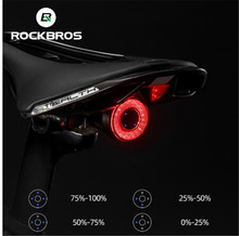 ROCKBROS Bicycle Auto On/Off Light Smart Brake Sensing IPX6 Waterproof LED Charging Cycling Taillight Bike Accessory