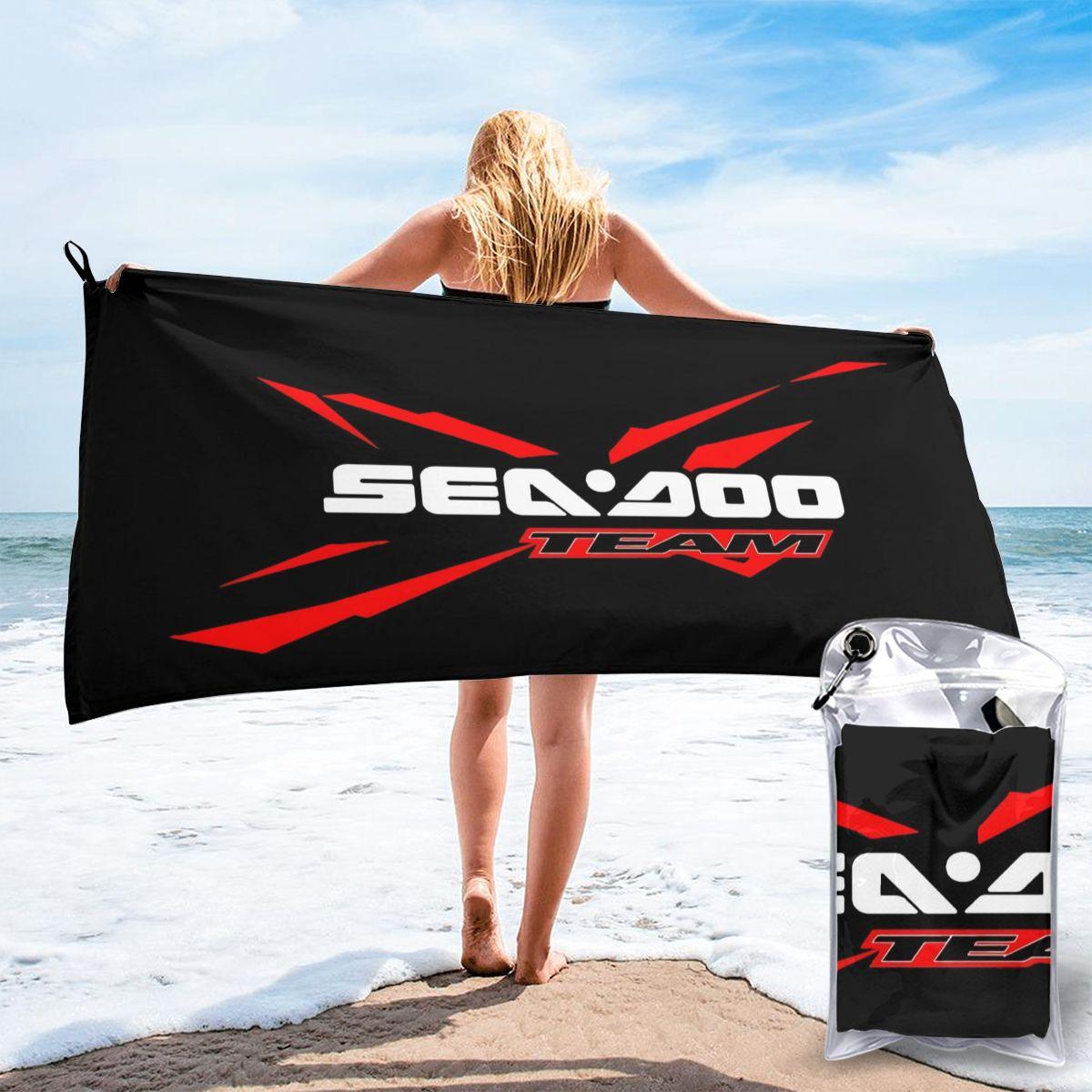 Sea Doo Team Rxt Brt Логотип Морской гоночной команды уличная одежда размер S3Xl пляжное банное полотенце