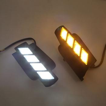 LED Daytime Running Light for Toyota Prado 120 LC120 GRJ120 Land cruiser 2003~2009 Fog lamp drl bumper light