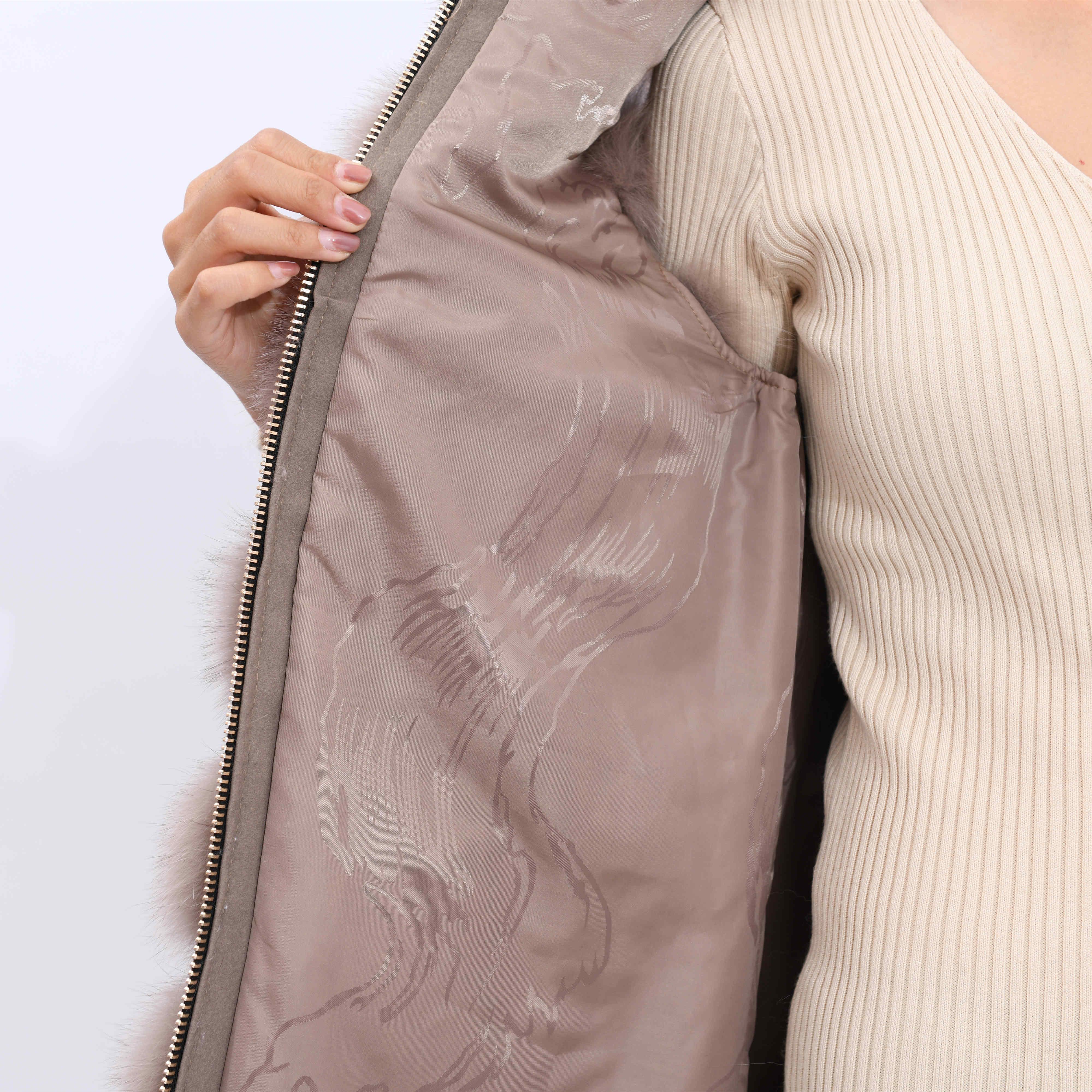 2019 yeni kadın kış gerçek fox kürk yelek, gerçek tilki kürk ceket, % 100% doğal gerçek kürk ceket, yüksek kaliteli şık sıcak kolsuz