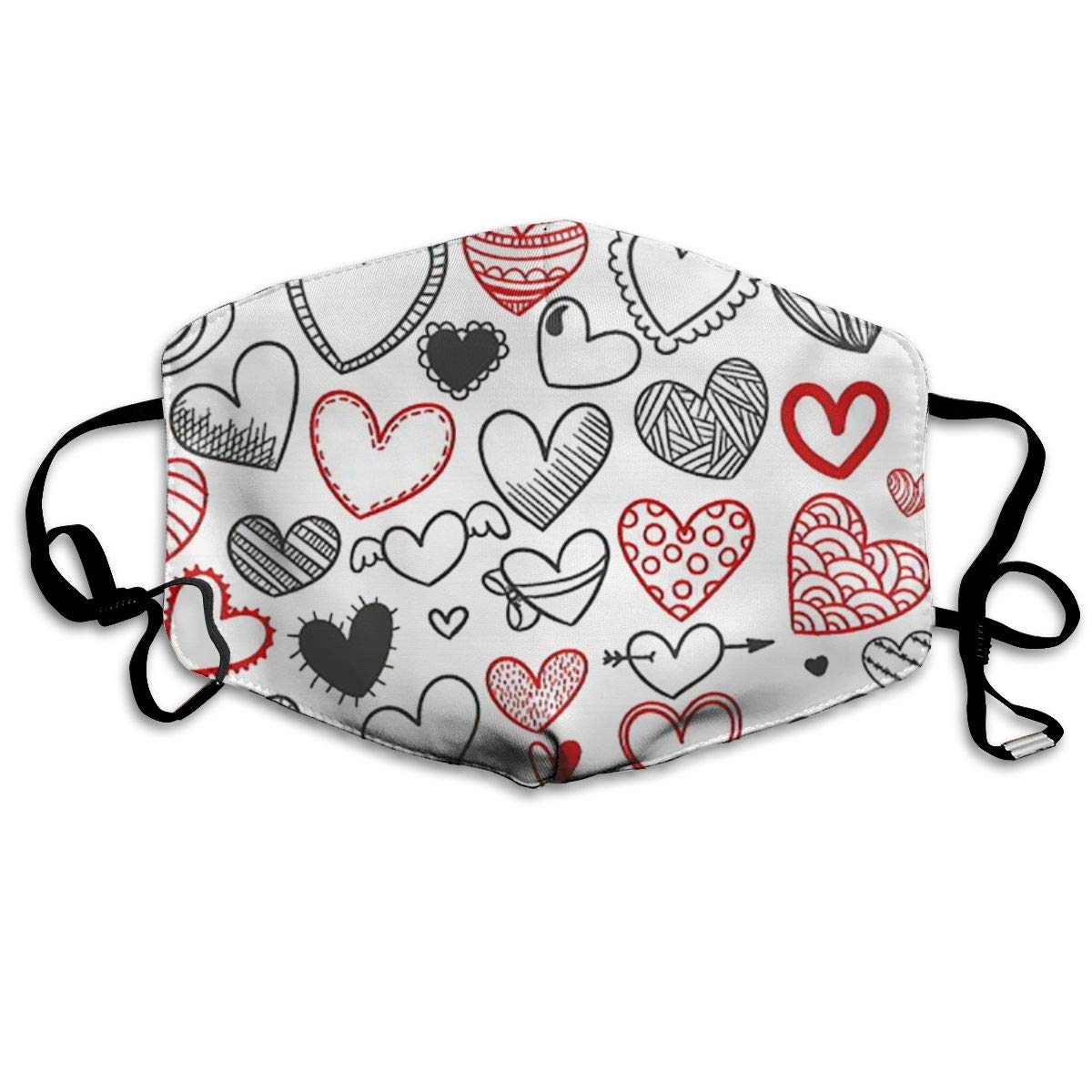 Mouth Mask Love And Heart Print Masks - Breathable Adjustable Windproof Mouth-Muffle, Camping Running For Women And Men