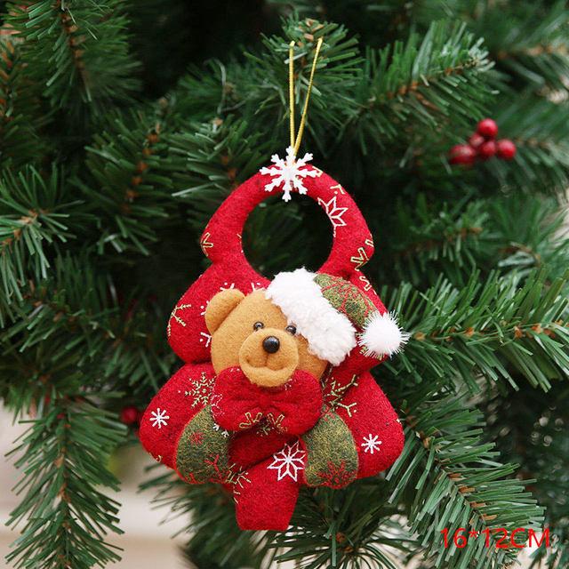 New Year 2020 Cute Santa Claus/Snowman/Angel Christmas Dolls Noel Christmas Tree Decoration for Home Xmas Navidad 2019 Kids Gift 61