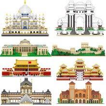 Micro Bricks Mini Blocks Architecture Taj Mahal Great Wall of China Sets Model Building Kits Kids Toy Expert London Tower Eiffel