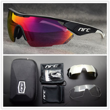 NRC Brand TR90 Sports Sunglasses Men Bicycle Eyewear UV400 C