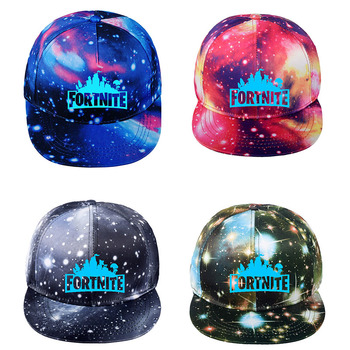Fortnite Children Luminous Cap Cool Starry Sky Hat Toy Birthday Gift for Kids Canvas Baseball Cap Kids Adult Adjustable Hat Men недорого