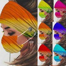 2 шт./компл. лента для волос при занятиях йогой с маской Женская повязка на голову повязка для волос унисекс для бега эластичная повязка для в...