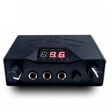 Digital LCD High Quality Black Tattoo Power Supply For Tattoo Machine permanent makeup power supply tattoo