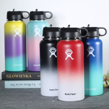 Water-Bottle Hydro-Flask Stainless Steel Straw Water Bottle Vacuum Flask Insulated Thermos Wide Mouth Sport Travel Bottles 500ml fashion bullet vacuum flask stainless steel thermos portable vacuum insulated water bottle sport thermal thermos flask
