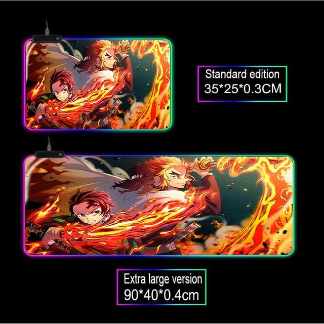Фото большой коврик для мыши mairuige с аниме рисунком игровой rgb