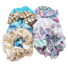 6 шт. блестящие металлические большие резинки для волос женские танцевальные булочки держатель для галстуков веревки для женщин аксессуары для волос