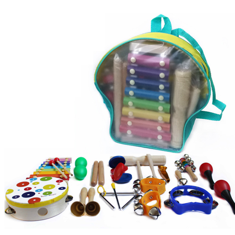 Musical Instrument Set 19 Pieces Of  Percussion Instrument Children's Kindergarten Baby Music Early Teaching Aids