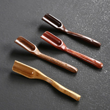 1 шт. чайные аксессуары, китайская деревянная бамбуковая ложка Kongfu в ретро стиле, нежная ложка, портативная бамбуковая чайная ложка