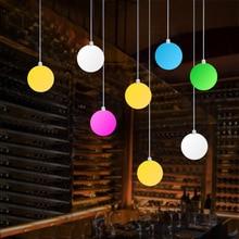 12 см светодиодный светящийся шар люстра красочный RGB подвесной шар Ресторан Бар Украшение подвесной шар светящаяся Круглая Люстра