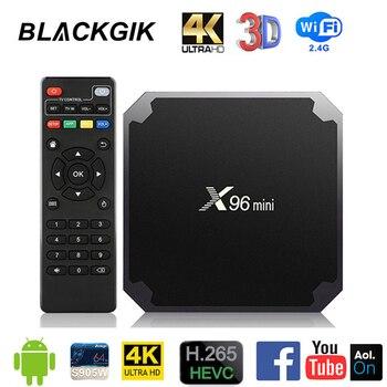 X96 MINI Amlogic S905W Android 9.0 TV BOX 2.4G Wifi 4k Media Player Google Play Set Top Box 2GB RAM 16GB ROM Smart TVBox X96MINI