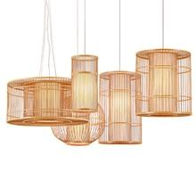 цена на Southeast Asia LED wood pendant lights Living Room Hotel Lobby Restaurant kitchen light hanging Lighting Bedroom Teahouse lustre