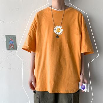 2021 Summer Man t-shirty S-5XL Graphic t-shirty czarne męskie ubrania t-shirty z krótkimi rękawami na co dzień T Shirt dla mężczyzn tanie i dobre opinie CASUAL SHORT CN (pochodzenie) COTTON Z okrągłym kołnierzykiem Sukno Drukuj