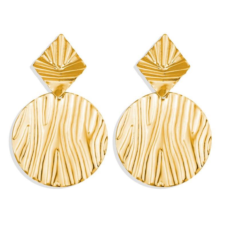 17 км винтажные Золотые круглые металлические серьги-гвоздики с блестками для женщин, модные серьги с полой сеткой, корейские ювелирные изделия, вечерние серьги, подарок - Окраска металла: CS5464