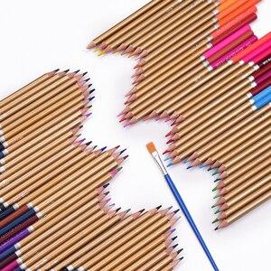 Image 4 - Professional 72 ดินสอสีชุดPre Sharpenedน้ำละลายน้ำดินสอสีด้วยแปรงกล่องป้องกัน