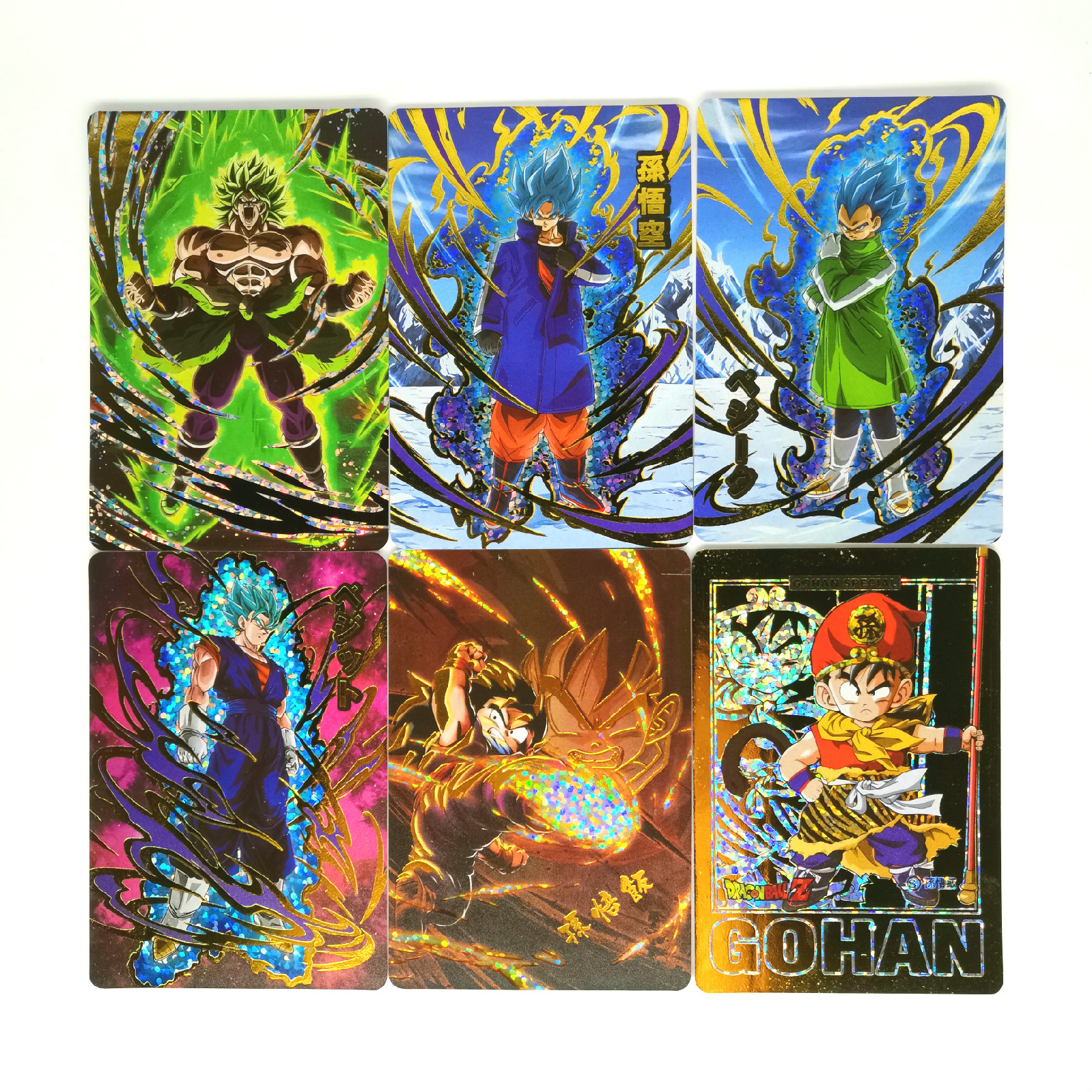 9pcs Super Dragon Ball Z Bronzing Heroes Battle Card Ultra Instinct Goku Vegeta Game Collection Cards