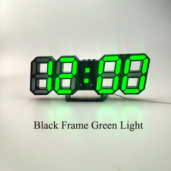 3D LED Wall Clock Modern Design Digital Table Clock Alarm Nightlight Saat reloj de pared Watch For Home Living Room Decoration 16