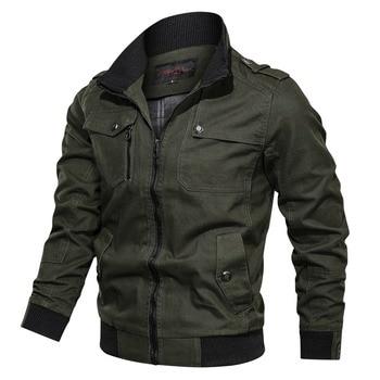 Plus Size M-4XL Cotton Military Jacket Men 2019 Autumn Winter Multi-pocket Zipper Jackets Male Brand Clothing Mens Bomber - discount item  40% OFF Coats & Jackets