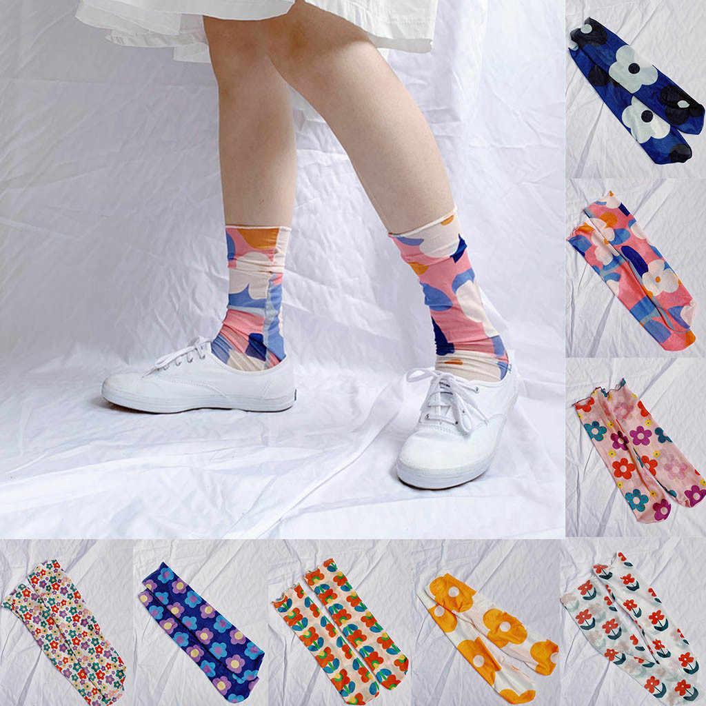 ضمان الجودة الجوارب النسائية الربيع والصيف الطباعة كلية الرياح جورب الشباب نمط تنفس نصف الجوارب مضحك Meias Soxs