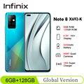 Глобальная версия Infinix Note 8 X692-K 6 ГБ 128 6,95 ''HD + 20,5: 9 64MP 18 Вт быстрый заряд Helio G80 Octa Core 5200 мАч мобильный телефон