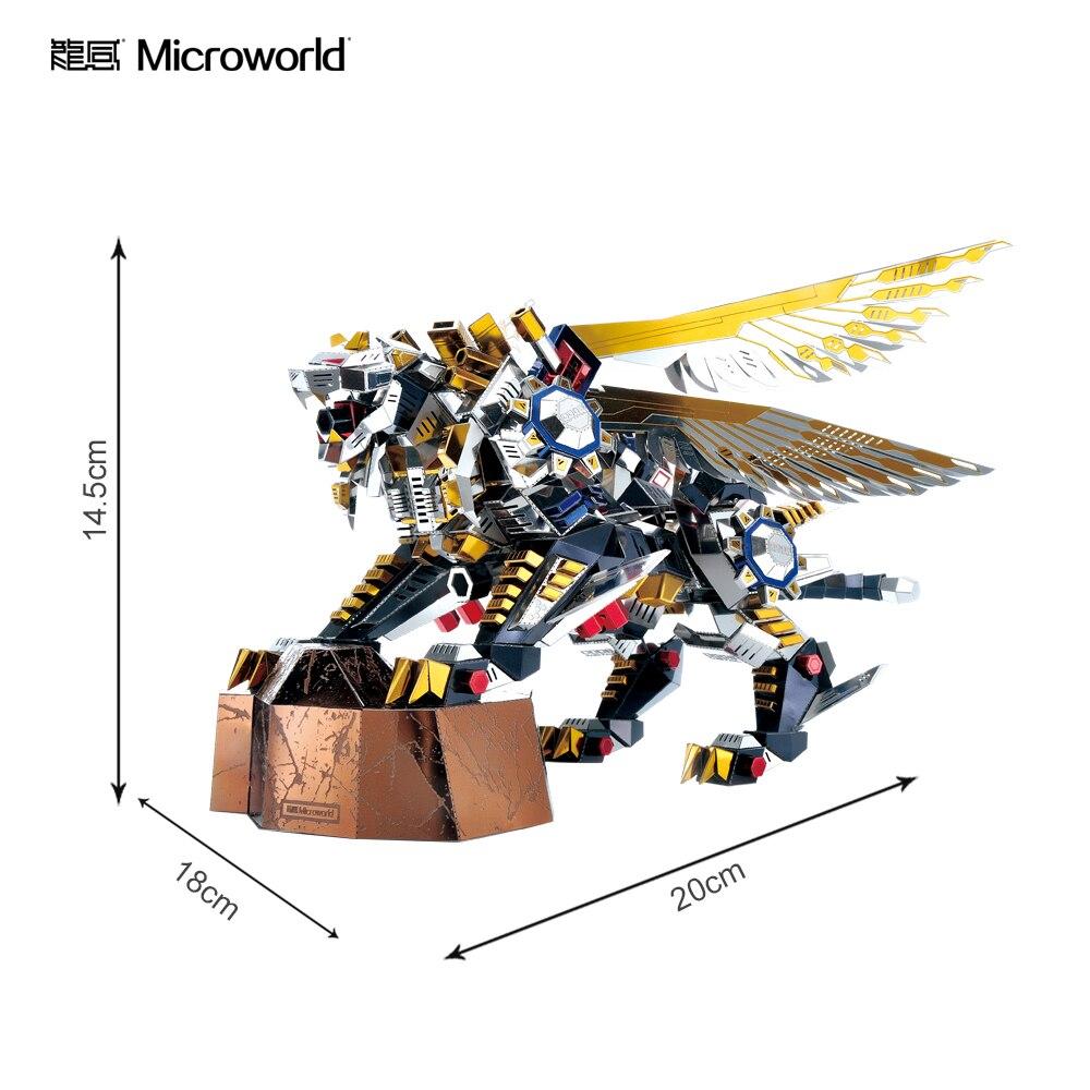 Microworld modèles 3D modèle tigre volant bricolage découpe laser puzzle combattant modèle 3D Puzzle en métal enfants jouets pour cadeaux adultes - 2