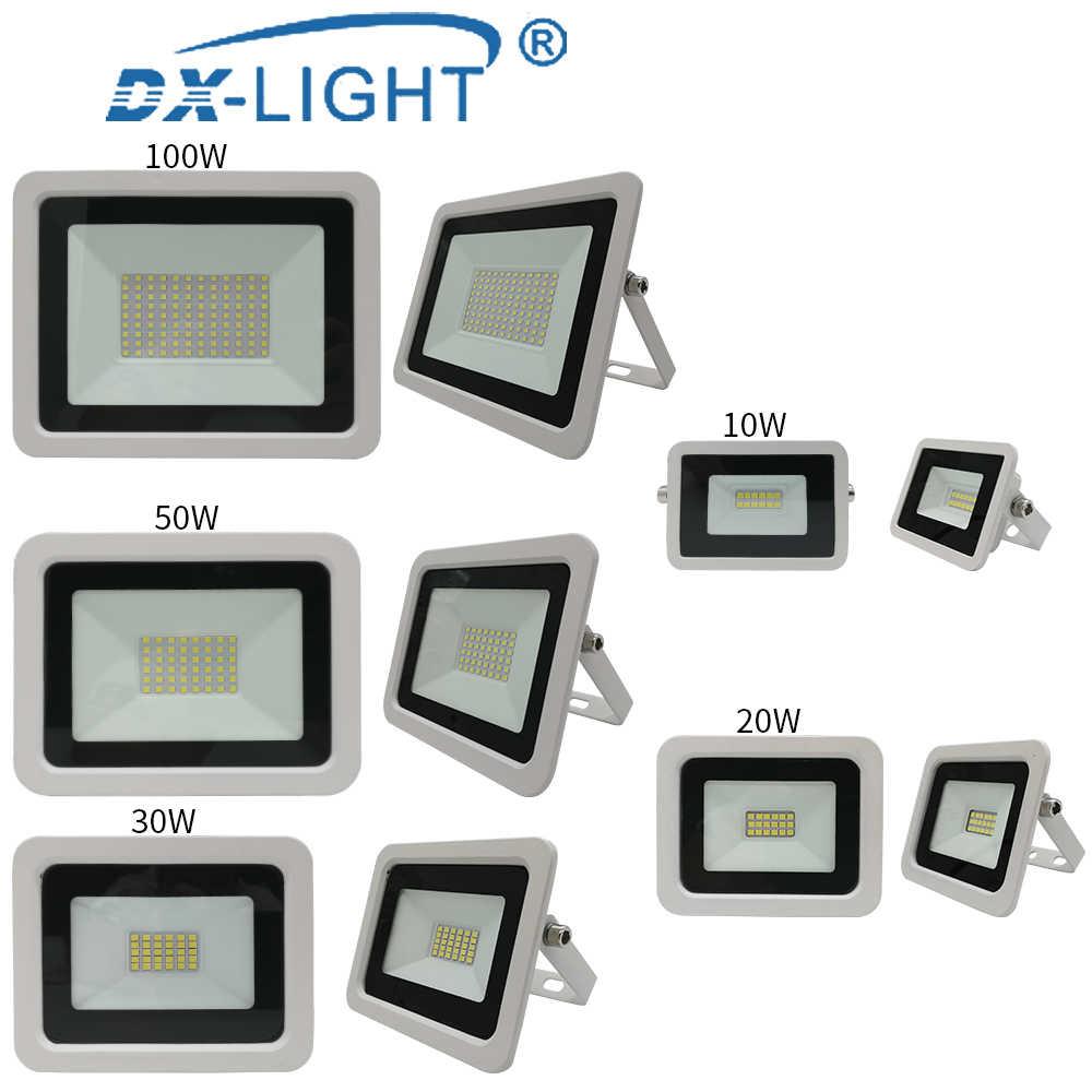 Gran oferta 10W 20W 30W 50W 100W LED Luz de inundación IP68 Led impermeable LED Luz de inundación blanco proyector reflector Led iluminación al aire libre