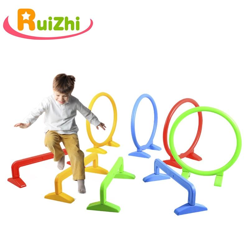 Ruizhi Children Hurdles Sport Jumping Through Hoops Outdoor Sport Activities Equipment Indoor Arch Barrier Frame Kids Toy RZ1068