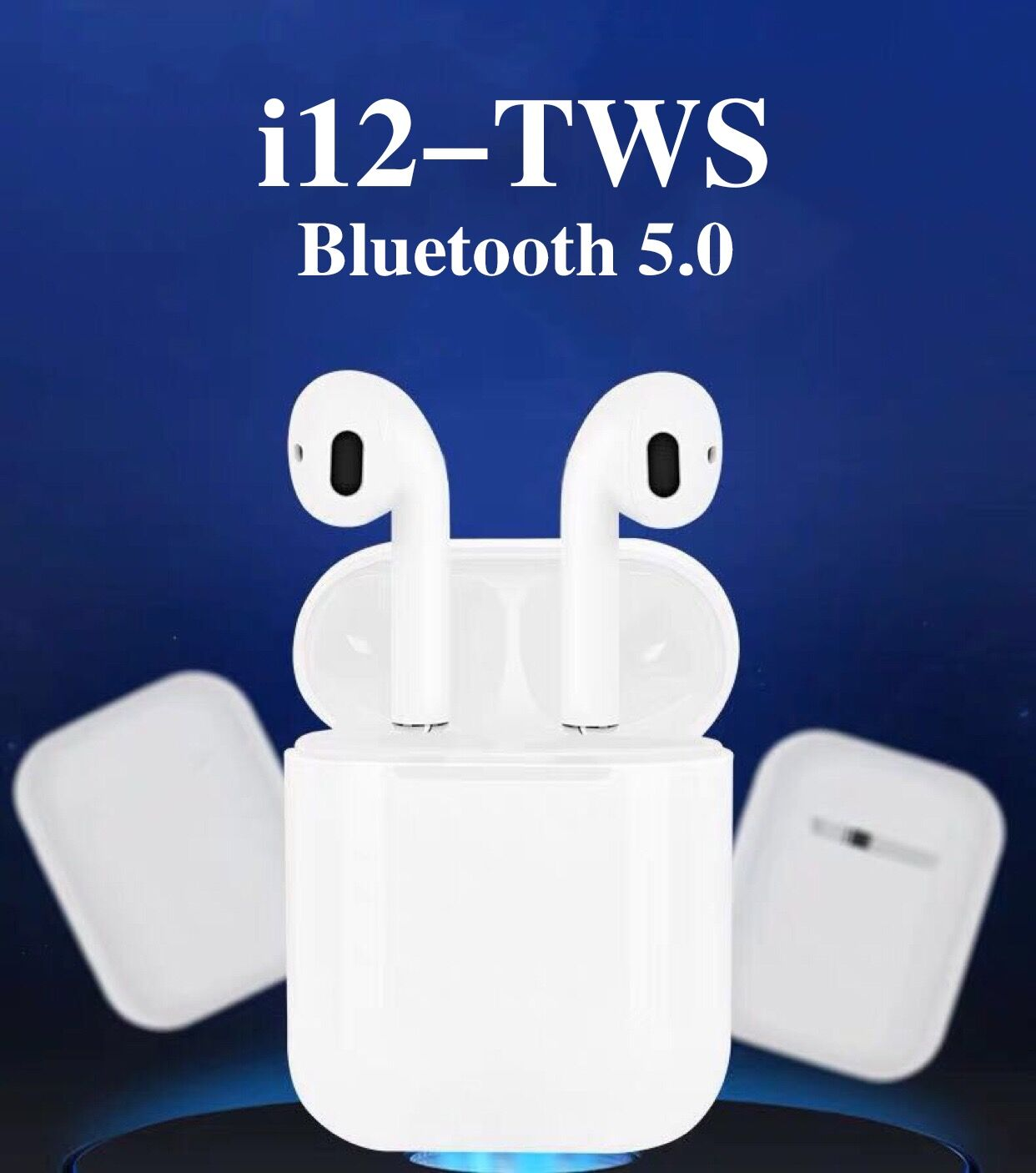 Bluetooth 5.0 Earphone  I12 TWS Double Calls Smart Touch Earphones For IPhone Pk I7s I9s I10 Earbuds Headphone Drop Shipping
