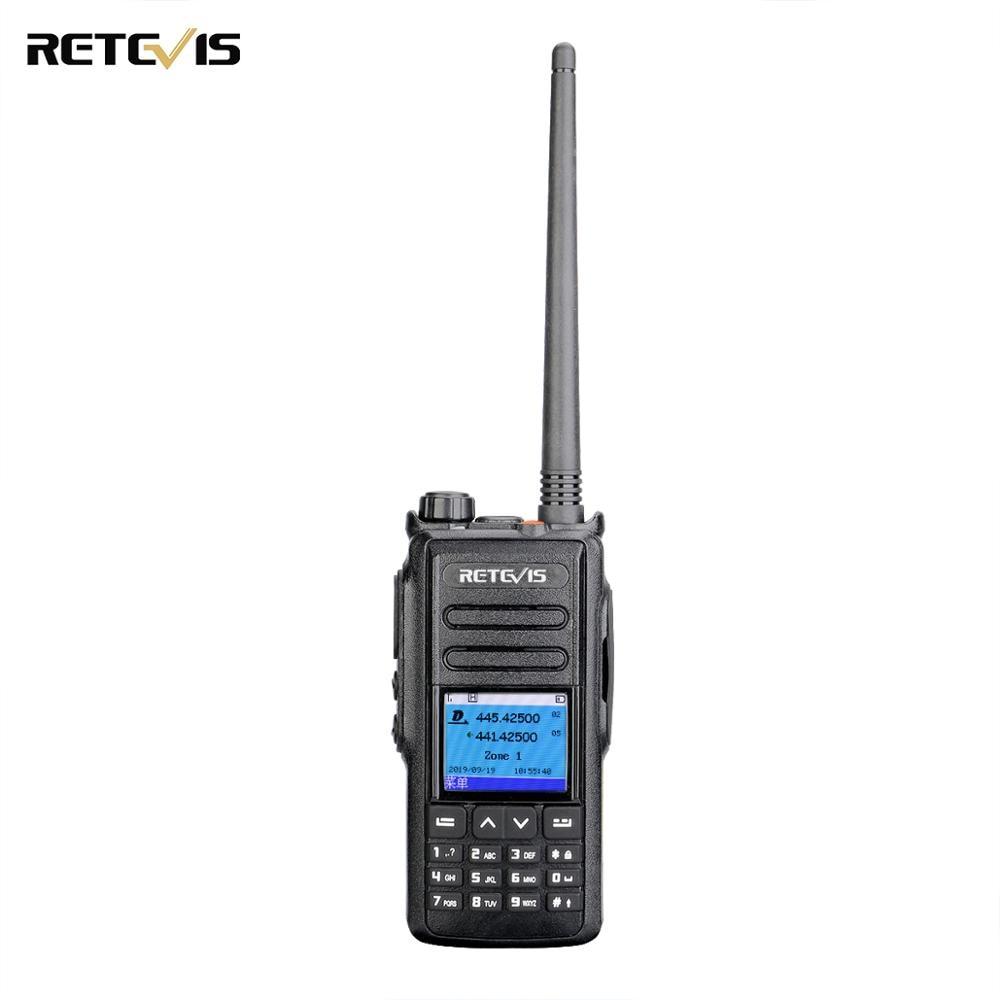 5W DMR Digital/Analog Walkie Talkie Retevis RT72 UHF VHF Dual Band Two Way Radio 4000 CH Handheld GPS Radio Station Hams Radio