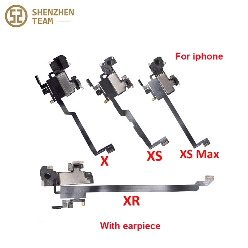 SZteam Earpiece Flex Cable for iPhone X XS MAX XR with earpiece Ear Sound Speaker Ear Pieces Ribbon Flex Cable Assembly Repair