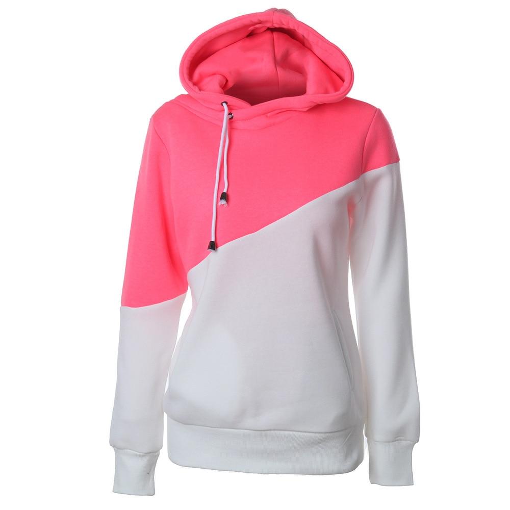 sweatshirt streetwear women pink hoodie korean harajuku hoodies cotton pullovers patchwork casual gothic 2019 christmas