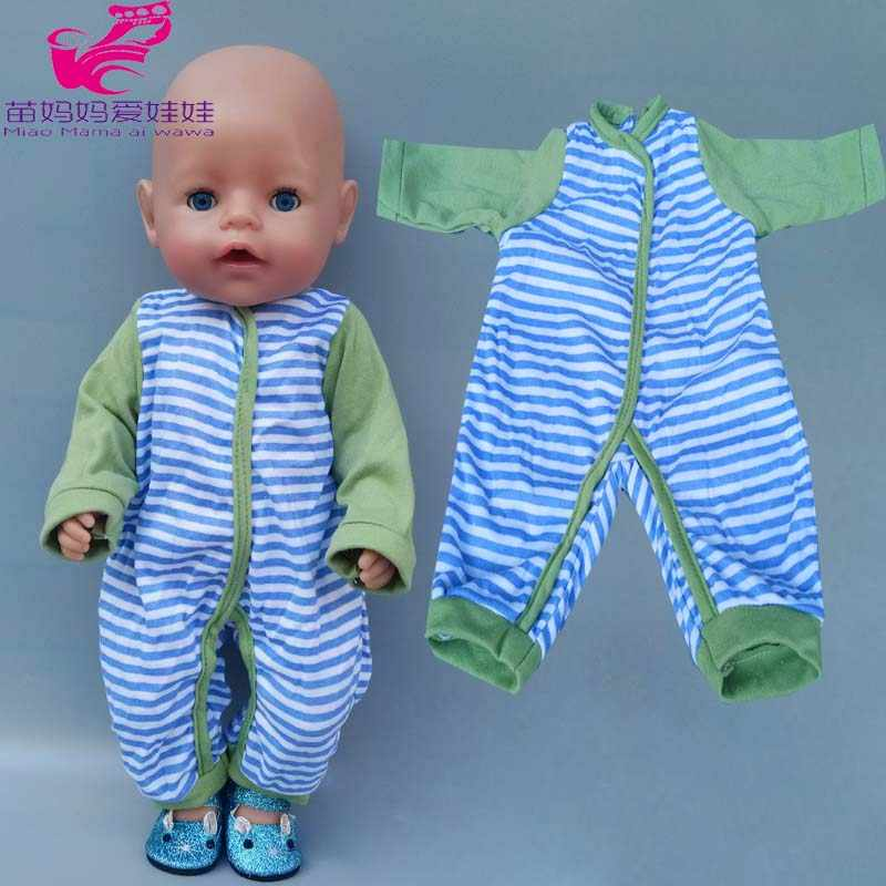 40cm Baby Doll rompers clothes for 43cm baby new born doll clothes children girl toys wears