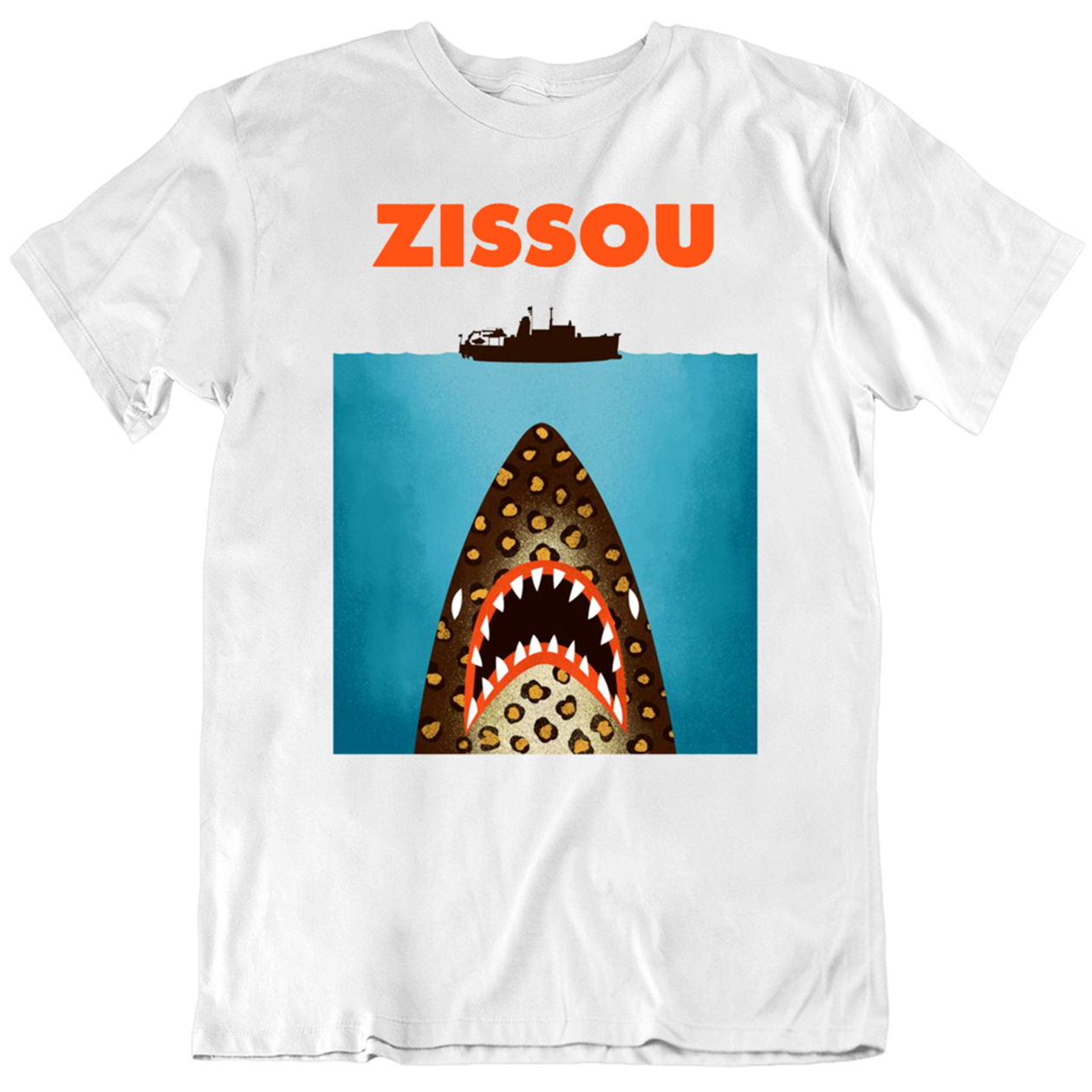 Zissou Bill Murray The Movie Jaws Parody Tops Tee T Shirt Men Gift New From US T-Shirt New Cool Gym image