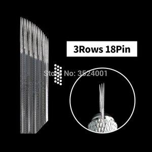 Image 4 - 10pcs 3 שורות 2 שורות קעקוע מחט אביזרי איפור קבוע מעוקר Microblading מחט להב עבור גבות שפתיים