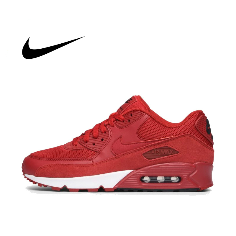 NIKE AIR MAX 90 Original Authentic Men's ESSENTIAL Running Shoes Sport Outdoor Sneakers Comfortable Athletic Good Quality