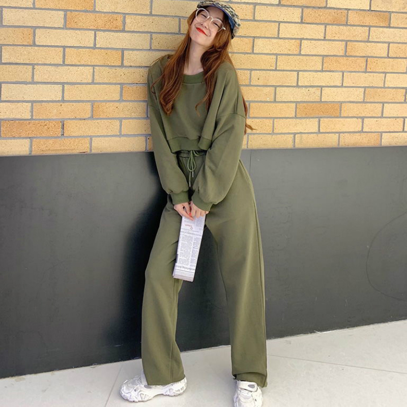 Mozuleva 2020 Spring New Women Fashion Knitted Sets Sportswear Long-sleeved Trousers Two-piece Sets Women Two Piece Outfits