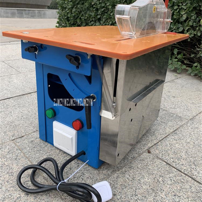Multi-functional Cutting Saw Machine Box-type Dust-free Liftable Oblique Cutting Table Saw Industrial Woodworking Table Saw 220V