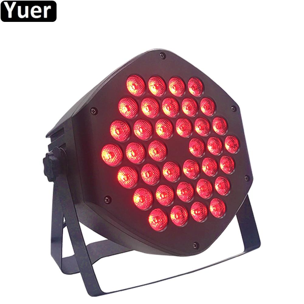 LED Par Lights 36x3W RGBW Strobe Light RGB 3IN1 LED DJ Wash Disco Light DMX512 Effect For Small Paty Party Bar Stage Lighting