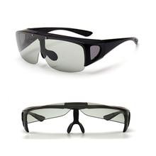 Vazrobe flip עדשת משקפי שמש photochromic גברים נקבה fit מעל מרשם משקפיים נהיגה משקפי קוצר ראיה אופטי נהג
