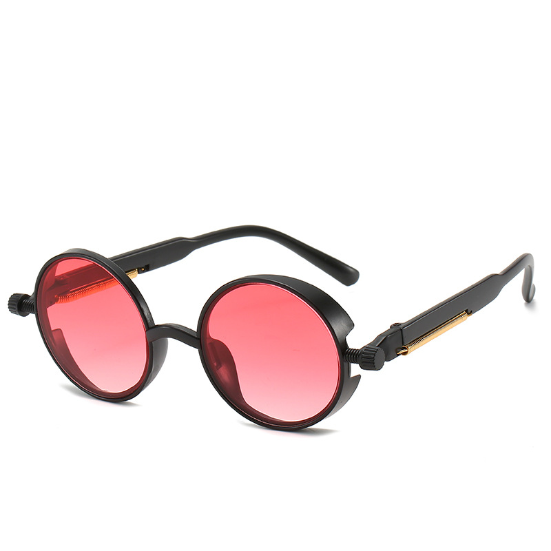 2020 Fashion Steampunk Sunglasses Men Women Round Glasses Brand Design Vintage Sunglasses High Quality UV400 Oculos De Sol