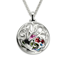 Strollgirl 925 sterling silver personalized custom birthstone chain  The tree of family Hollow necklace for Women Jewelry gifts